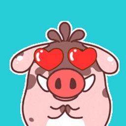 Lovely Fat Boar Animated Stickers For iMessage