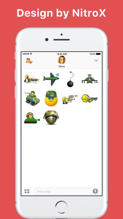 Army and War emoji stickers by NitroX for iMessage