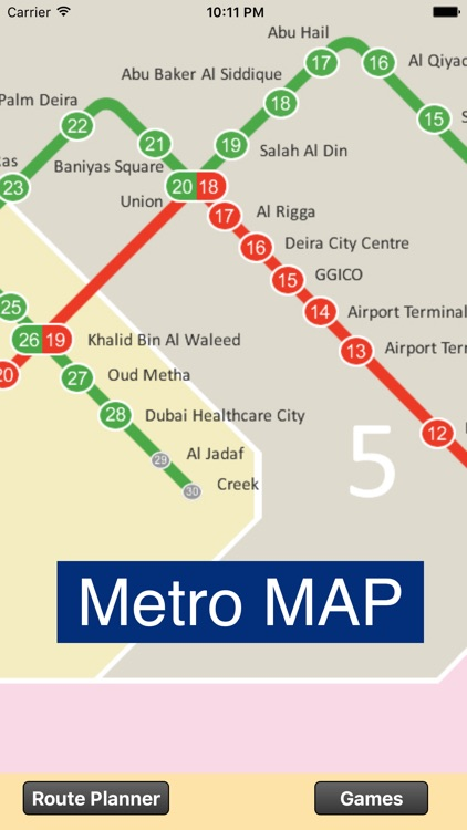 Dubai Metro - Map and route planner by Julien Bourgouint