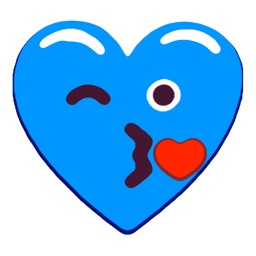 Heart Blue Love Emojis Stickers for iMessage