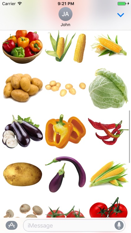 Fun Vegetables Stickers
