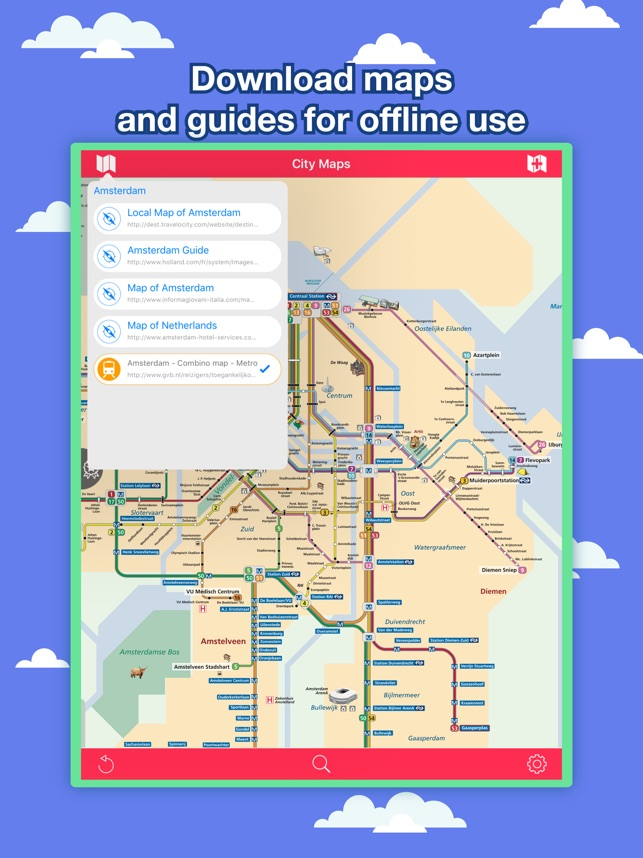 Ams Subway Map.Amsterdam City Maps Discover Ams With Mrt Guides On The App Store