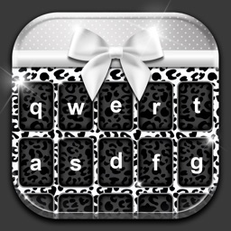 Black and White Keyboard Theme Custom Emoji Skins