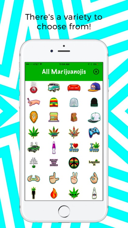 Marijuanoji - weed emoji keyboard screenshot-3
