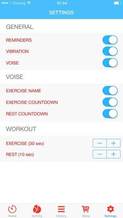 Quick workout - shape you up! screenshot 4
