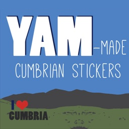 Yam-made Cumbrian Stickers