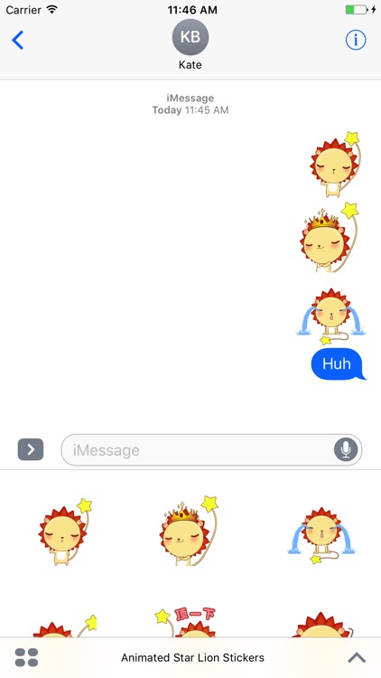 Animated Star Lion Stickers For iMessage screenshot-3