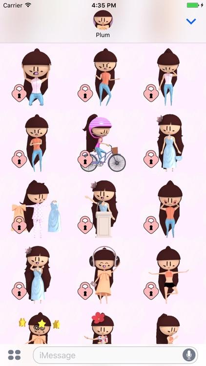 PLUM Animated Stickers