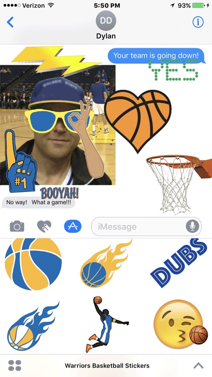 Warriors Basketball Stickers