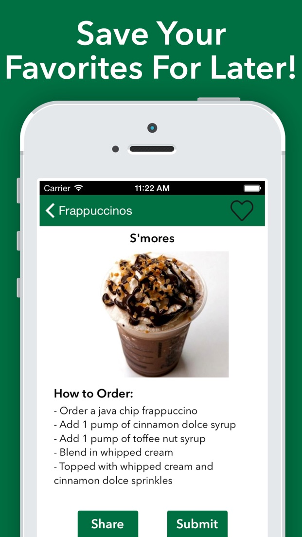 Secret Menu For Starbucks App Store Review Aso Revenue Downloads Appfollow