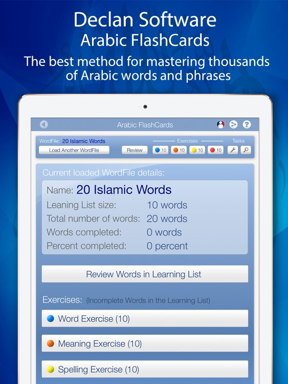 Learn Arabic FlashCards for iPad