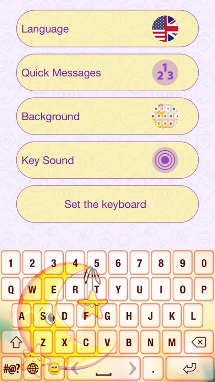Cute Cartoon Color Keyboard Themes Emoji & Layout screenshot-1