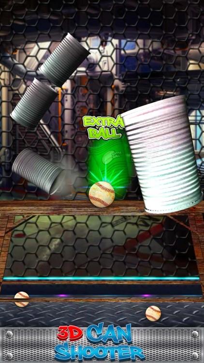 3D Can Knock Down Shooter screenshot-3