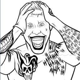 Coloring Pages For Suicide Squad Edition