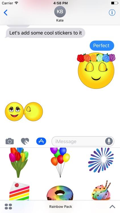Rainbow Pack- Gay & Lesbian Emojis,Gay Flags Emoji screenshot-3