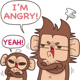 Juppy The Monkey Vol 2 stickers for iMessage