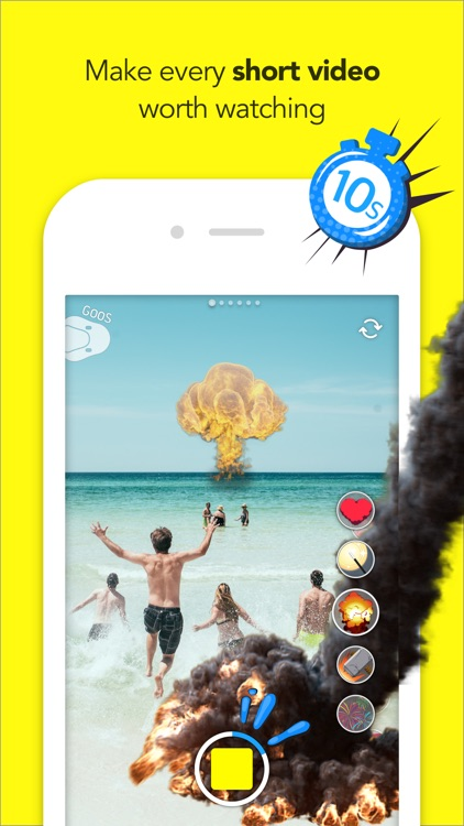 GoosCam - Live Clip Filmmaker with Sticker Effects screenshot-3