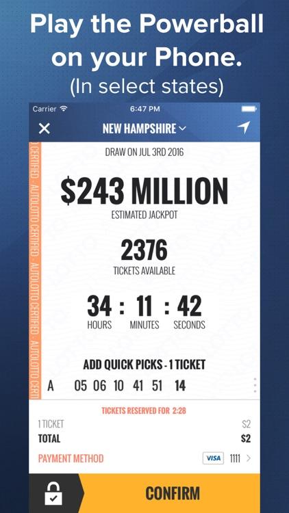 AutoLotto: Powerball, MegaMillions Lottery Tickets screenshot-0