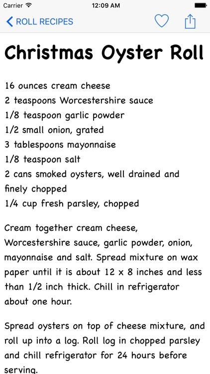 Roll Recipes
