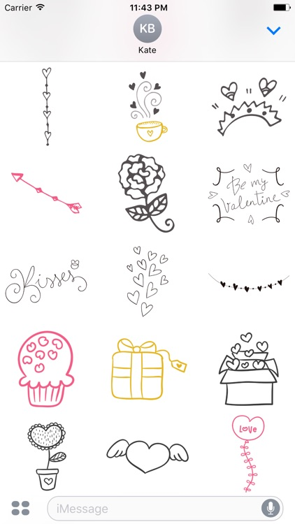LOVe DOODLe Stickers for iMessage screenshot-4