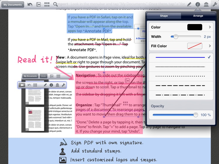 PDF Editor Pro - Take Note, Sign & Fill Forms screenshot-1