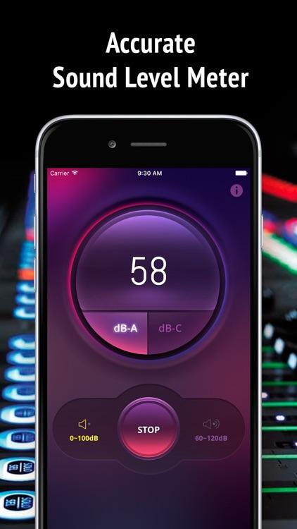 Noise Level Meter - measure noise in Decibel (db) screenshot-4