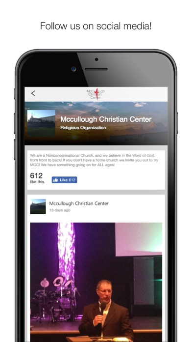 Image of McCullough Christian Center for iPhone