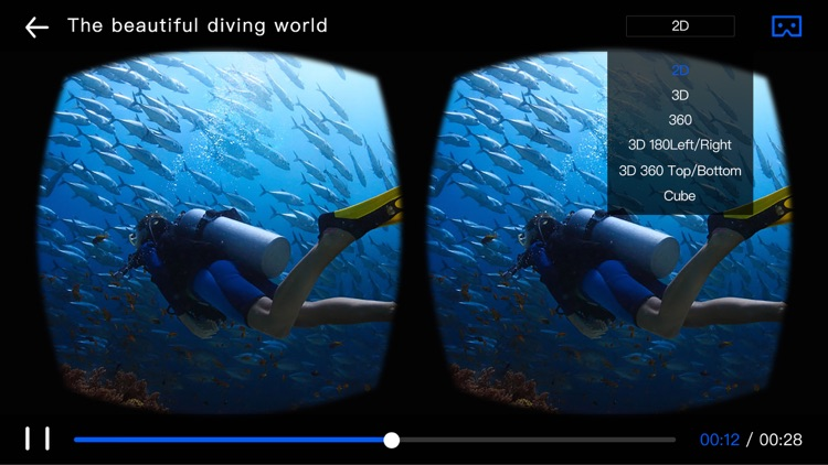 Go VR Player- Virtual Reality 3D Video Player