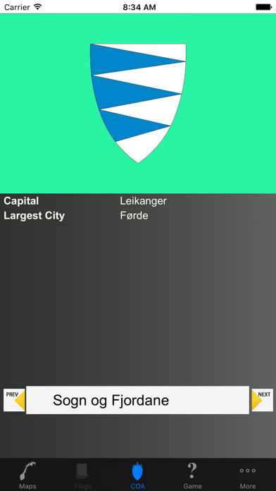 Norway County Maps and Capitals screenshot two