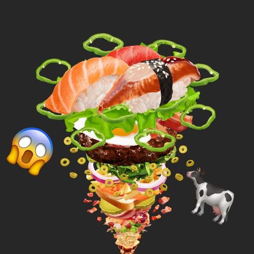 FOODNADO: Fun texting - Burger Pizza Sushi Drinks