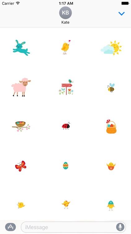 Cute Easter Eggs Sticker