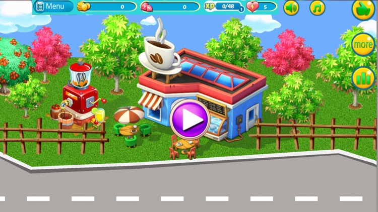 coffee shop game - my cafe