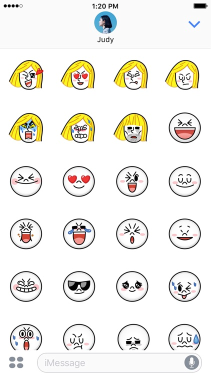 JAMES & MOON Emoji Stickers - LINE FRIENDS screenshot-3