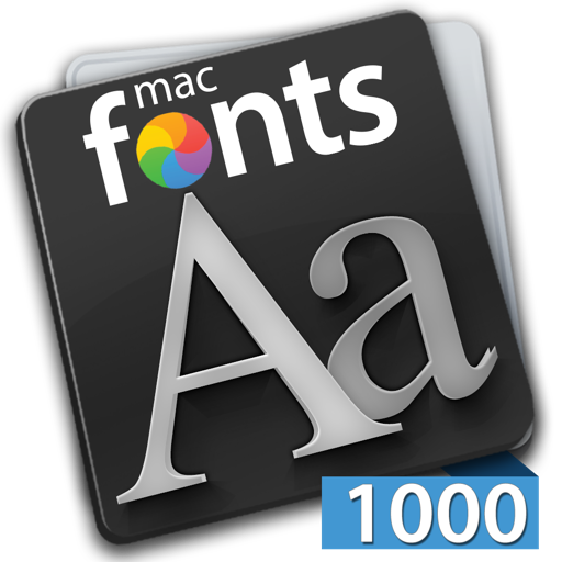 macFonts 1000 Fonts Blue