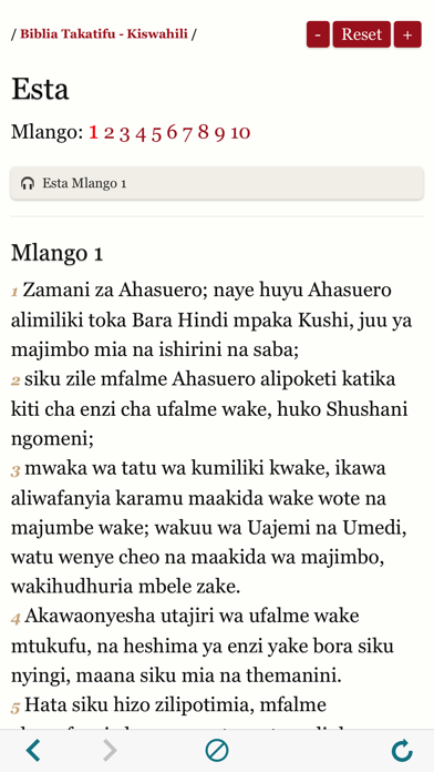 Biblia Takatifu : Bible in Swahili Audio book screenshot four
