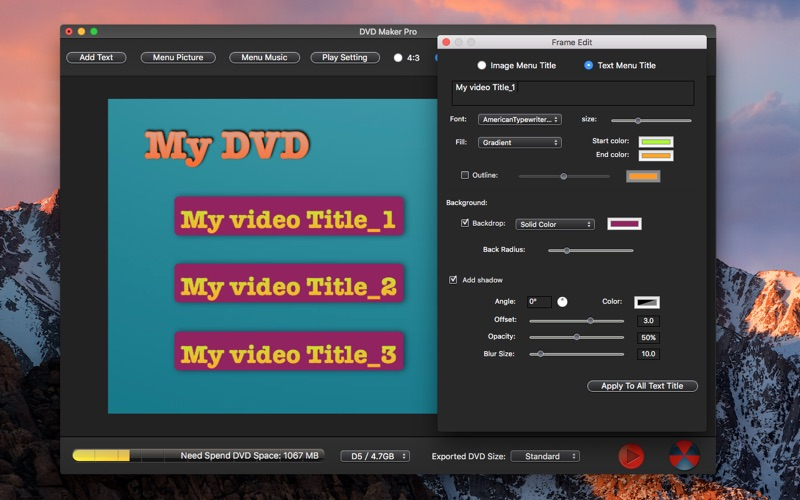 DVD Maker Pro-DVD Creator Burn Screenshot - 4