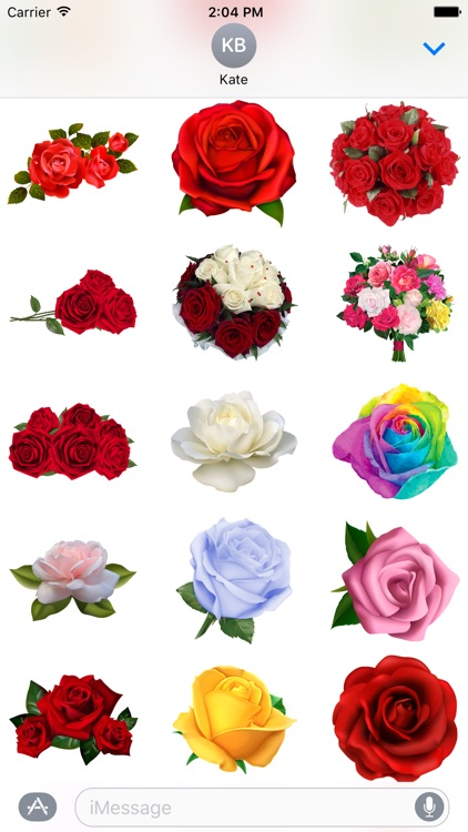 Hearts & Roses to Love Stickers for iMessage screenshot-3