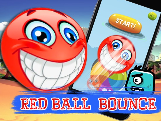 Super Red Ball Physics : jump spikes bouncing-ipad-0