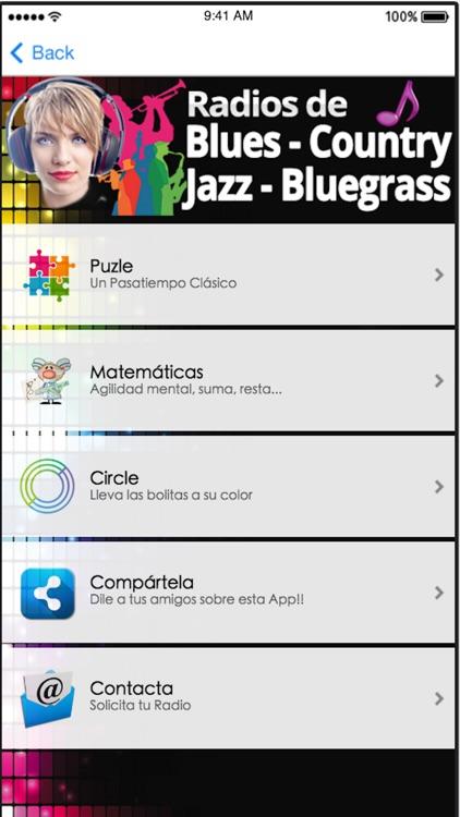 Radios de Música Blues Jazz Country & Bluegrass