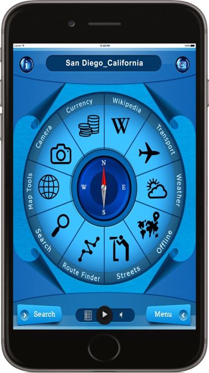 San Diego California - Offline Maps Navigator