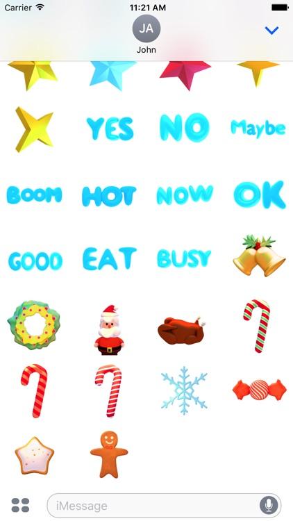 Snowman! Cute 3D Emoji Stickers for iMessage screenshot-3