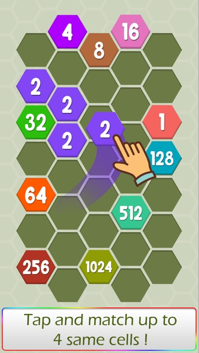 Connect Hexa Puzzle - Matching Numbers screenshot one