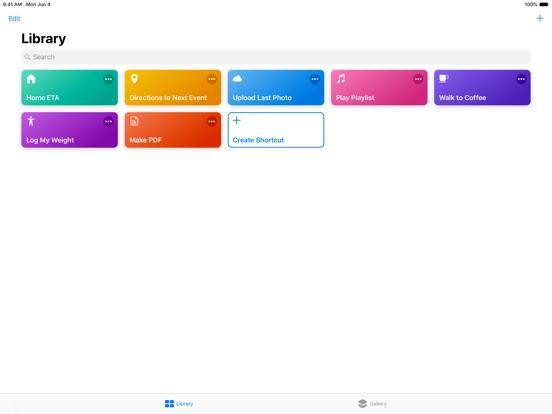 Shortcuts Screenshots