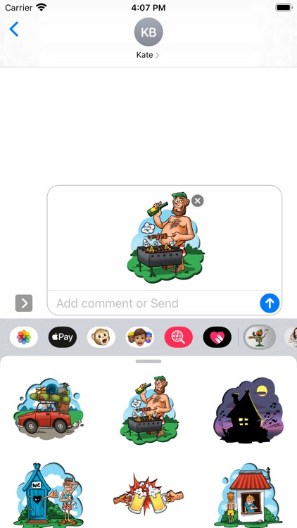 Cottage Stickers Chat