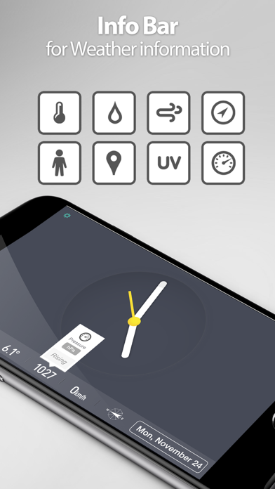Screenshot for Red Clock - Weather & Alarm in Peru App Store