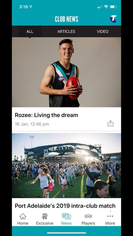 Port Adelaide Official App截图4