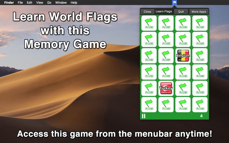 Learn Flags - Menu Edition screenshot 1