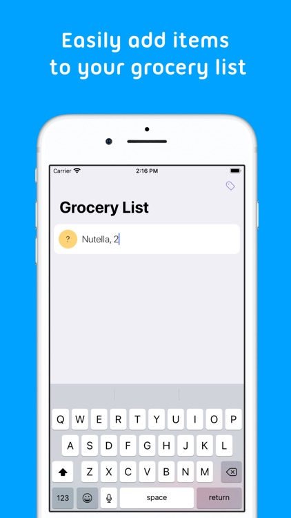 Mindy : Grocery List