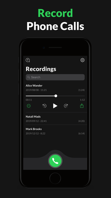 Call Recorder for iPhone. Screenshot