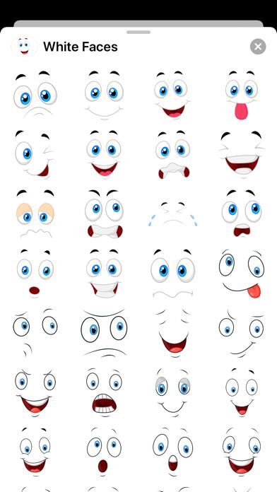 White Smiley Emoji Stickers Screenshot